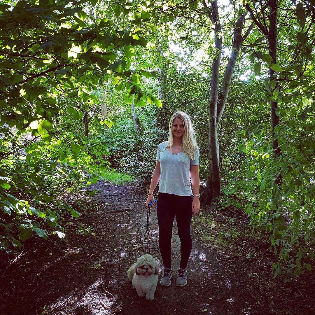 Dog walking with Stanley