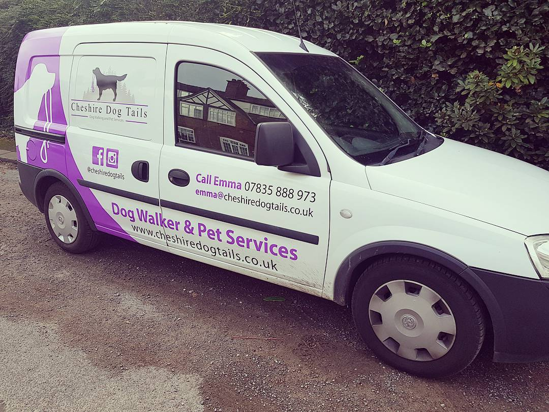 Altrincham dog walker van